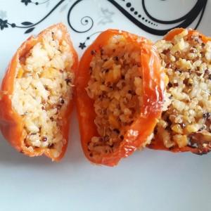 Полнети пиперки со ориз и киноа (посно)