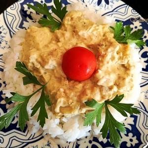 Пилешки стек во сос на басмати ориз