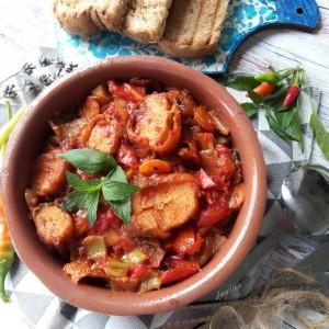Тава со риба и зеленчук (посно)