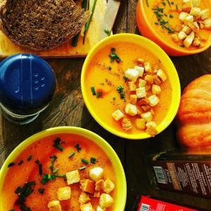 Крем супа со печена тиква и компир