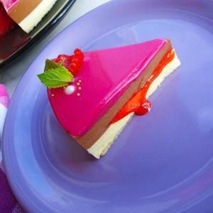Мус торта со огледало глазура