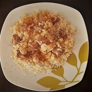 Варен ориз со мисиркино месо и карфиол