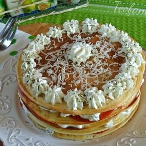 Солена торта од палачинки со ѕаѕики крем салата