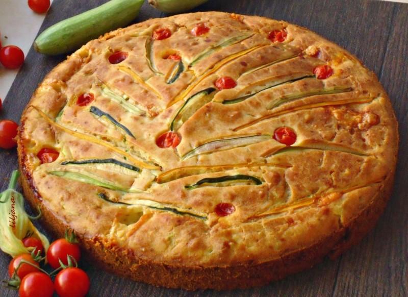 Солена зеленчукова пита
