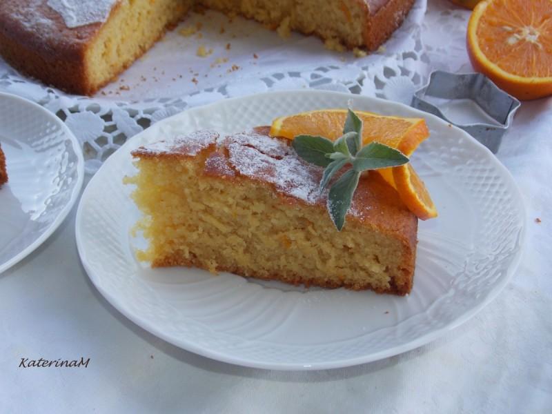 Торта со портокал (посно)