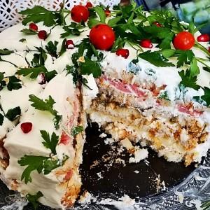 Солена двокпек торта II (без печење)
