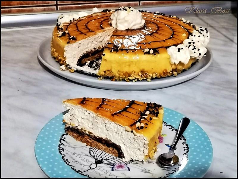 Орев - карамел огледало торта