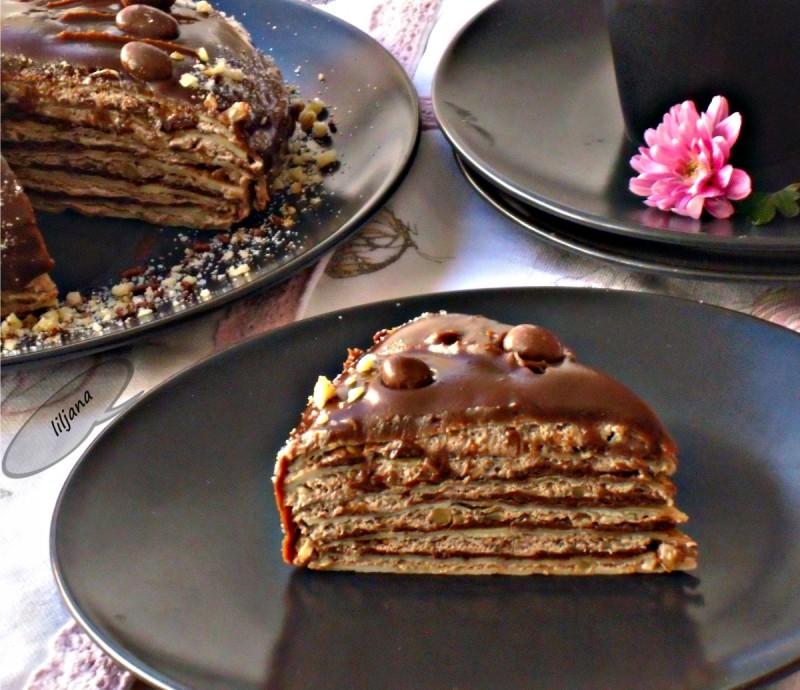 Торта од палачинки и нутела
