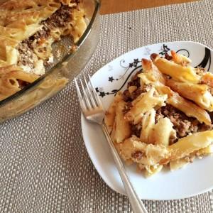 Лазања од макарони и мелено месо