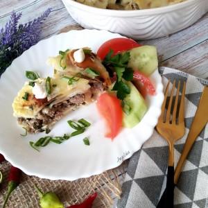 Потпечени палачинки со мелено месо