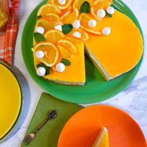 Мус торта од портокали