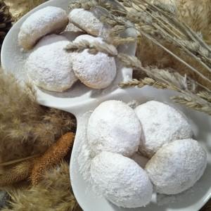 Празнични снежни колачиња со мармалад (ПОСНО)