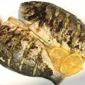 Ципура со лук,магдонос и лимон(посно)