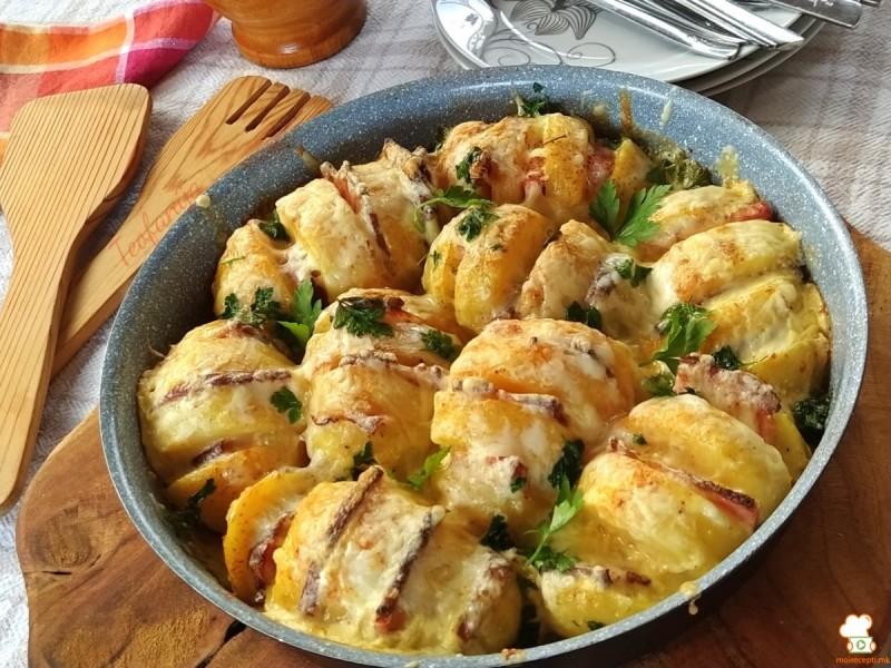 Тава со компир и сланина - Прилог кон главно јадење