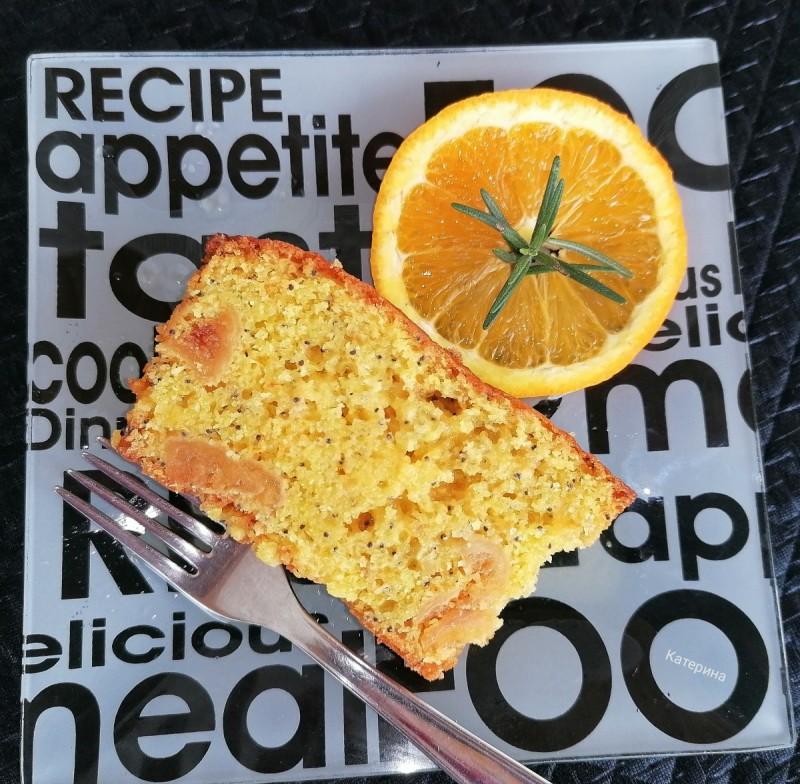 Кекс со портокал и суви смокви