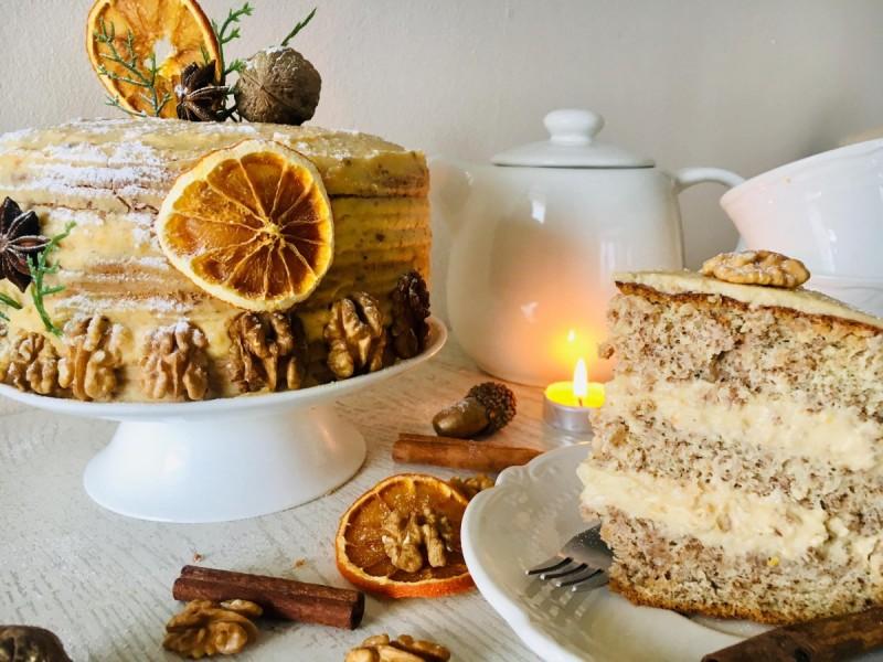 Зимска орев торта(јубилеен 300ти рецепт)