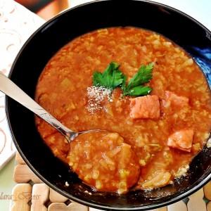 Манџа со зелка, ориз и чаден бут