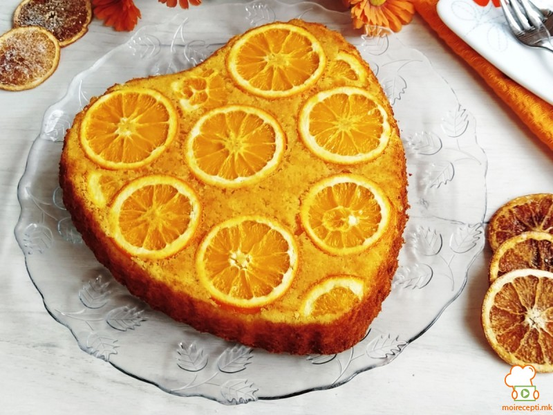 Срце колач со портокали
