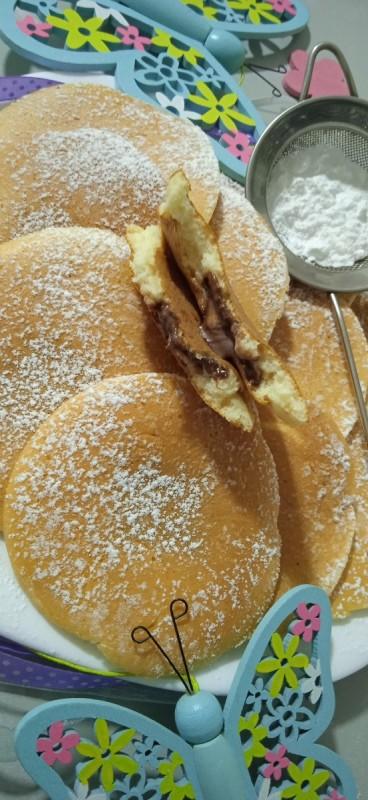 Мини  палачинки (со полнеж од чоколадо)