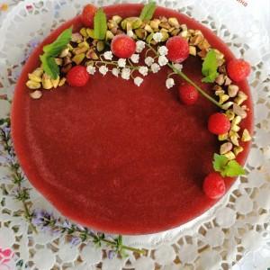 Тробоен чизкејк - торта од фстаци,чоколадо и јагоди, 1800 јубилеен рецепт
