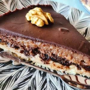 Јафа торта, без печење со два фила