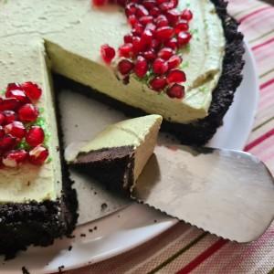 Мача чизкејк тарт