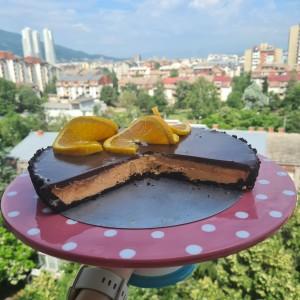 Тарт со чоколадо и портокал