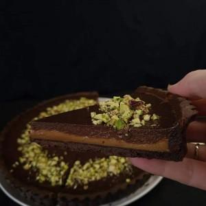 Чоколаден тарт со карамела (Дулче де лече)