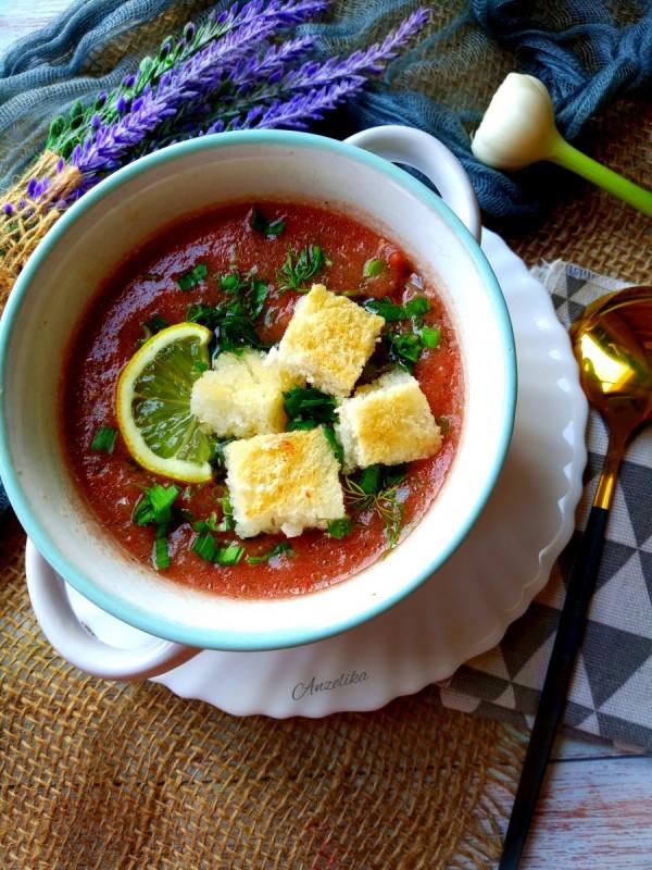 Ладна супа од домати - Гаспачо