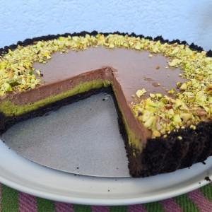Тарт со фстаци и чоколадо