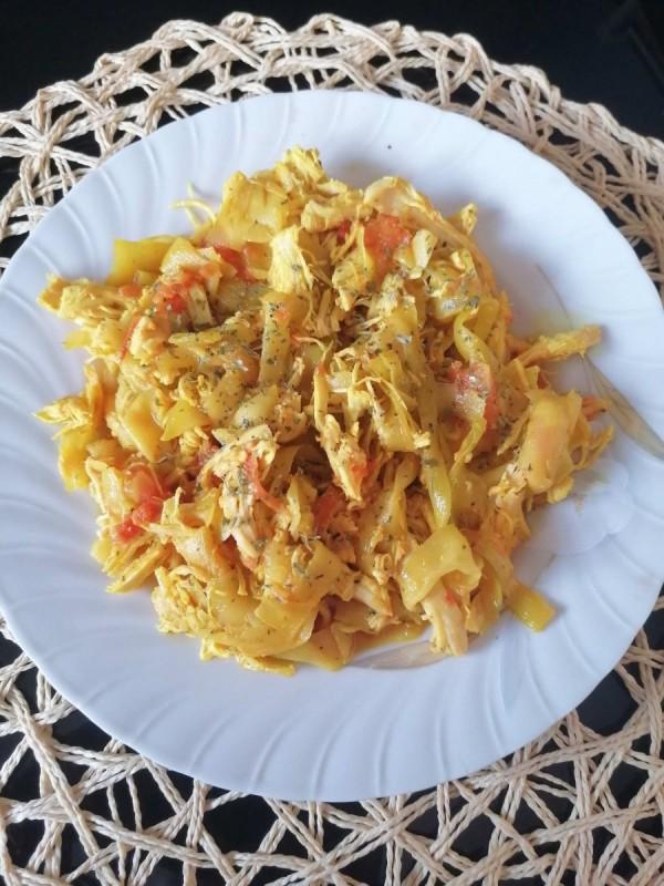 Пилешки стек со тиквичка