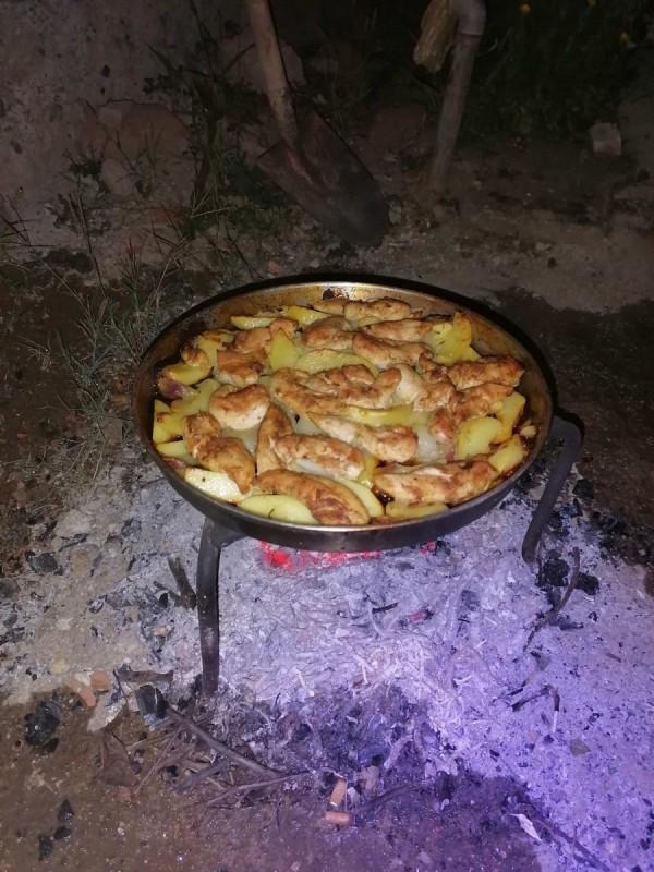 Пилешки стек печен под сач